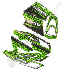 Kit décoration KEROX ROCK VERT de pocket quad