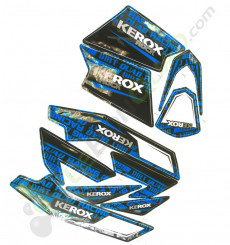 Kit décoration KEROX ROCK BLEU de pocket quad
