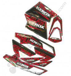 Kit décoration KEROX ROCK ROUGE de pocket quad
