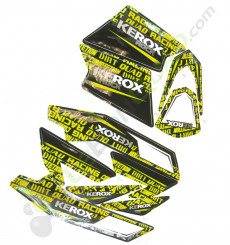 Kit décoration KEROX ROCK JAUNE de pocket quad