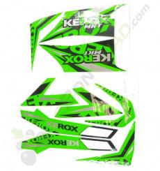 Kit décoration KEROX MKT VERT de quad enfant