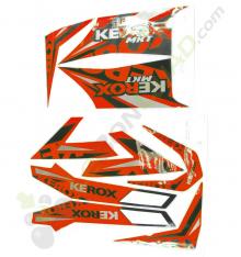 Kit décoration KEROX MKT ROUGE de quad enfant
