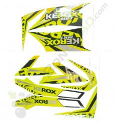 Kit décoration KEROX MKT JAUNE de quad enfant