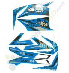 Kit décoration KEROX MKT BLEU de quad enfant