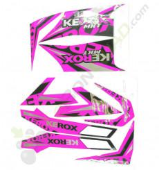 Kit décoration KEROX MKT ROSE de quad enfant