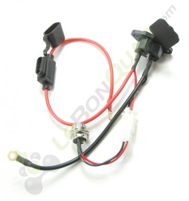 Faisceau chargeur batterie / fusible / alimentation de Quad E-MKT - Quad enfant