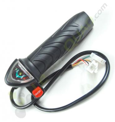 Commande d'accélérateur avec voyant de charge et bouton on/off de quad électrique