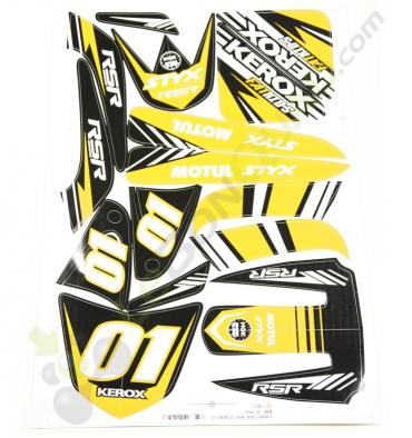 Kit décoration JAUNE de moto enfant E-Fat kids