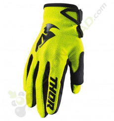 Gants enfant THOR Sector taille Y2XS JAUNE FLUO