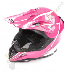 Casque enfant YEMA taille YS ROSE