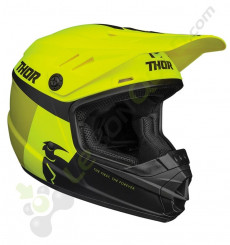 Casque enfant THOR Sector Racer taille YL JAUNE