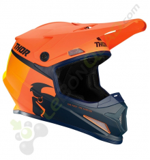 Casque THOR Sector Racer taille S ORANGE