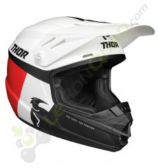 Casque enfant THOR Sector Racer taille YL BLANC