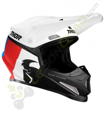 Casque THOR Sector Racer taille L BLANC