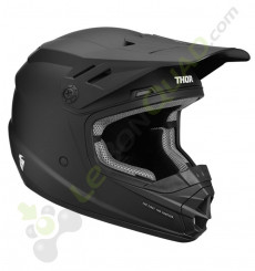 Casque enfant THOR Sector Solid taille YL NOIR MAT