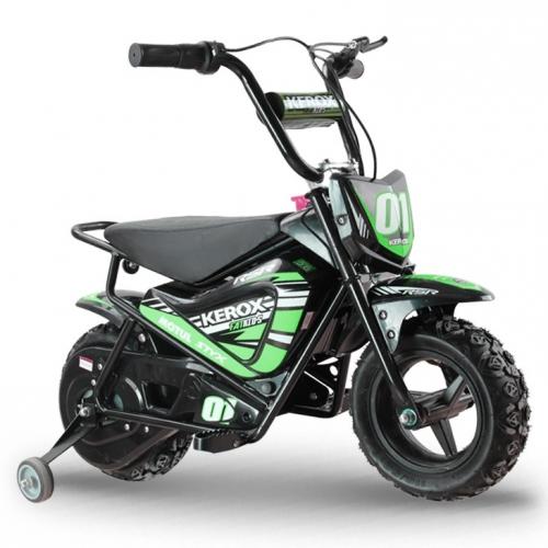 Moto enfant électrique KEROX E-Fat kids 250W VERT - Quad enfant