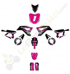 Kit décoration de moto electrique pour enfant KEROX E-STORM rose