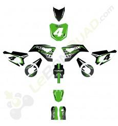 Kit décoration de moto electrique pour enfant KEROX E-STORM vert