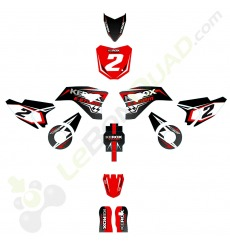 Kit décoration de moto electrique pour enfant KEROX E-STORM rouge