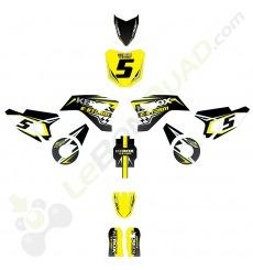 Kit décoration de moto electrique pour enfant KEROX E-STORM jaune