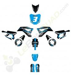 Kit décoration de moto electrique pour enfant KEROX E-STORM bleu