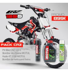 Pack Pit Bike CRZ 125 S + Huile motul + Bombe chaine motul + Nettoyant freins