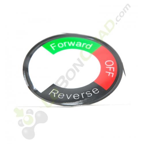 Sticker pour contacteur marche avant / arrière de quad pocket électrique E-Rex - Quad enfant