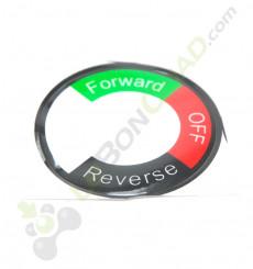 Sticker pour contacteur marche avant / arrière de quad électrique