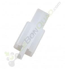 Cache connecteur 2 broches avec clips de pocket
