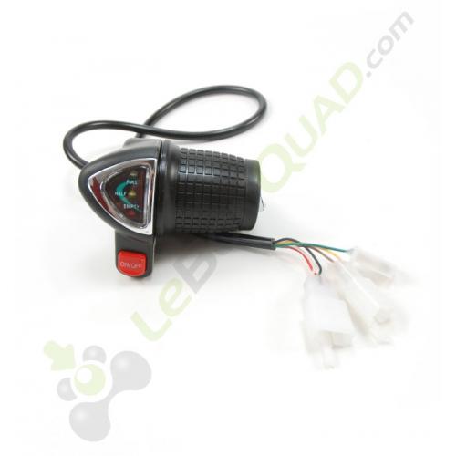 Commande d'accélérateur avec voyant de charge de pocket cross électrique E-mico - Quad enfant