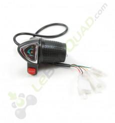 Commande d'accélérateur avec voyant de charge de pocket cross électrique E-mico